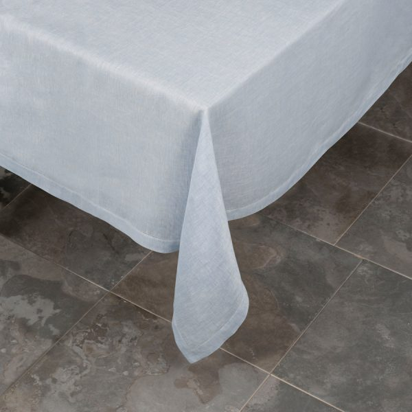 Italian Pardi blue linen tablecloth