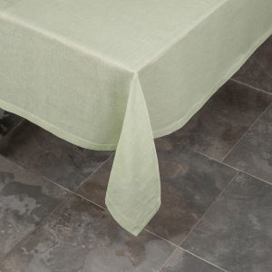 Pardi green linen tablecloth