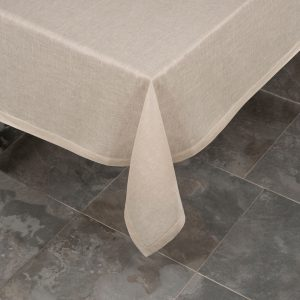 italian natural linen tablecloth