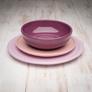 Pink tuscan dinnerware