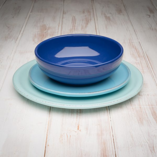 blue tuscan dinnerware