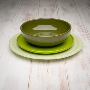 Green tuscan dinnerware set