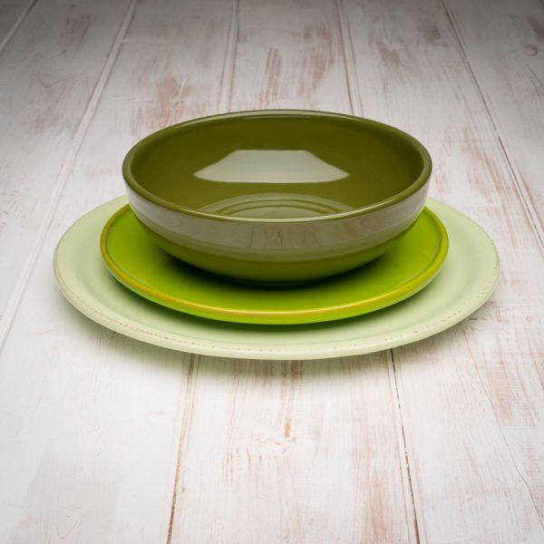 Green tuscan dinnerware set