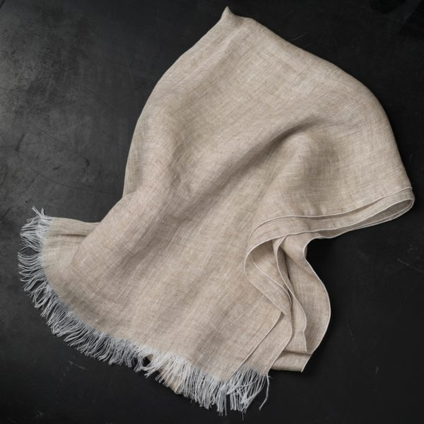 natural linen scarf