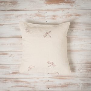 block printed linen cushions