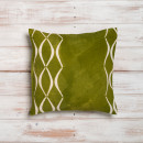 green-linen-cushion
