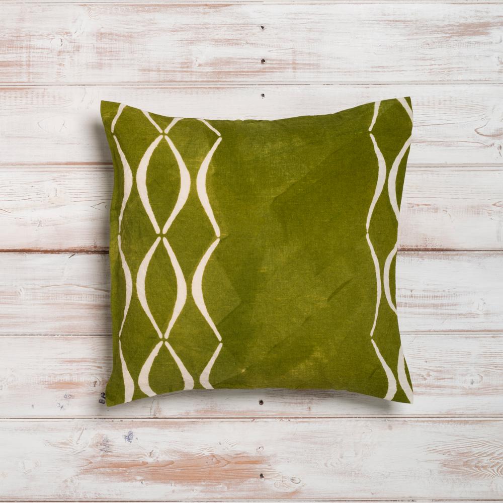 artisan green-cushion cover bertozzi