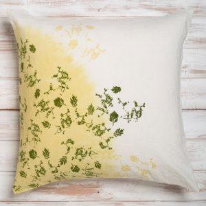 bertozzi green linen cushion