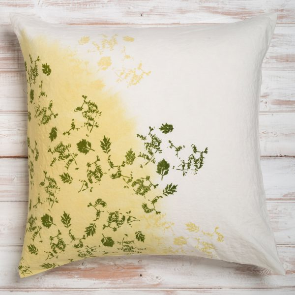 bertozzi green linen cushion