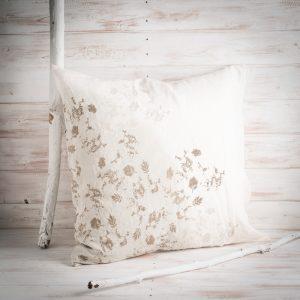 Bertozzi grey linen cushion