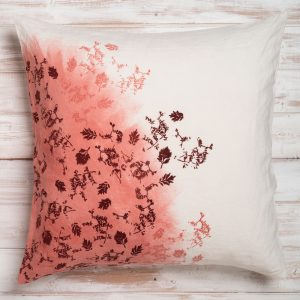 red linen cushion cover by bertozzi