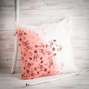 red linen cushion by Bertozzi