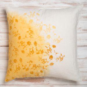 bertozzi yellow linen cushion