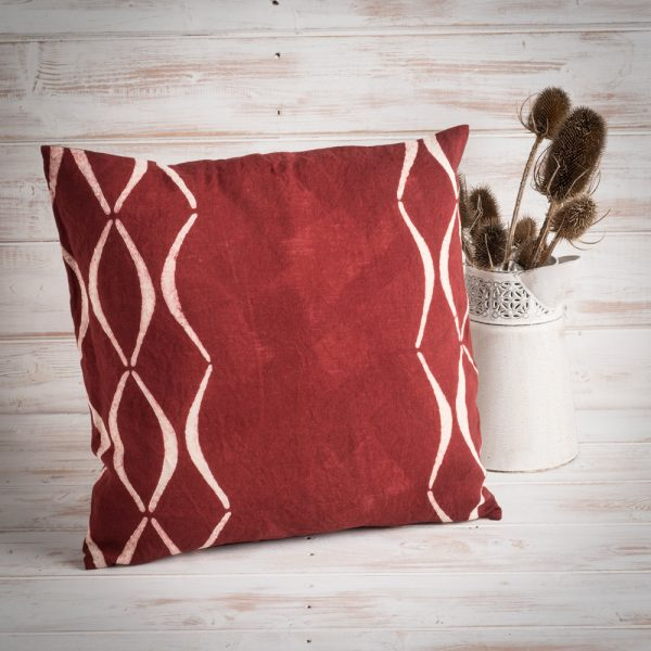 artisan red cushion cover bertozzi