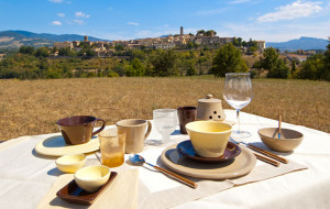 Tuscan dinnerware outdoor dining