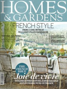 AllÓRA featured in Homes & Gardens Magazine
