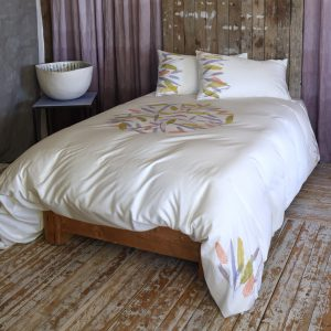 Bohemian style bedding feathers