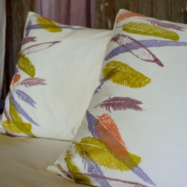 Bohemian style bedding Bertozzi feathers