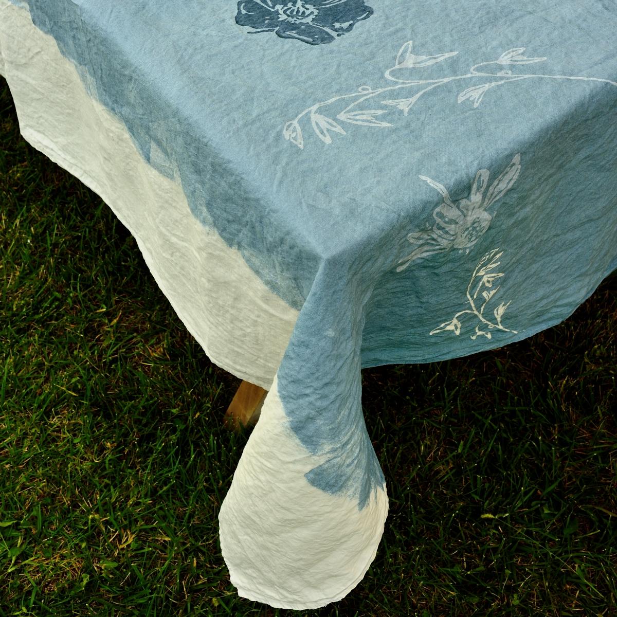 hand painted unique tablecloths bertozzi