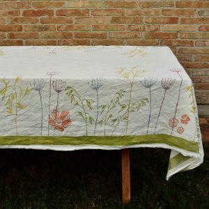 Hand printed colourful tablecloths