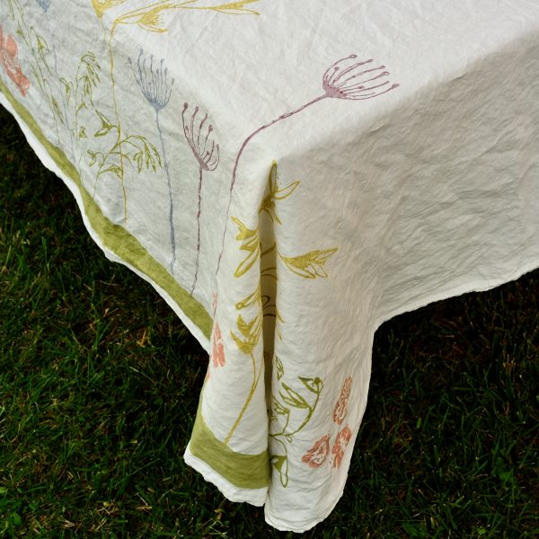 Hand printed beautiful tablecloths