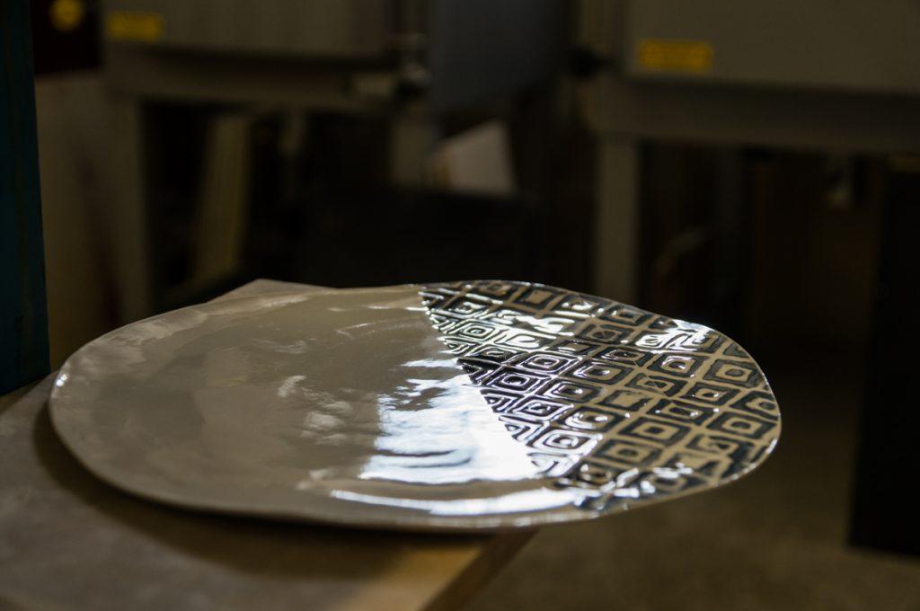 handmade porcelain tableware diamond plate