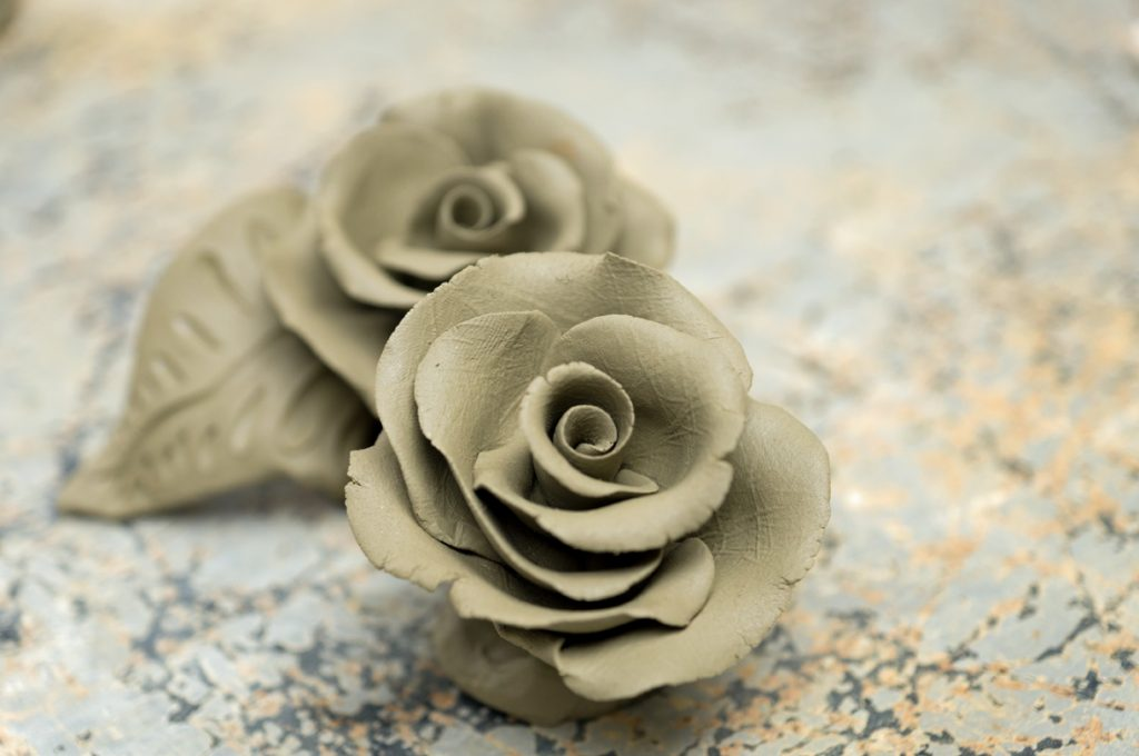Beautiful Roses Made Of Clay Allora