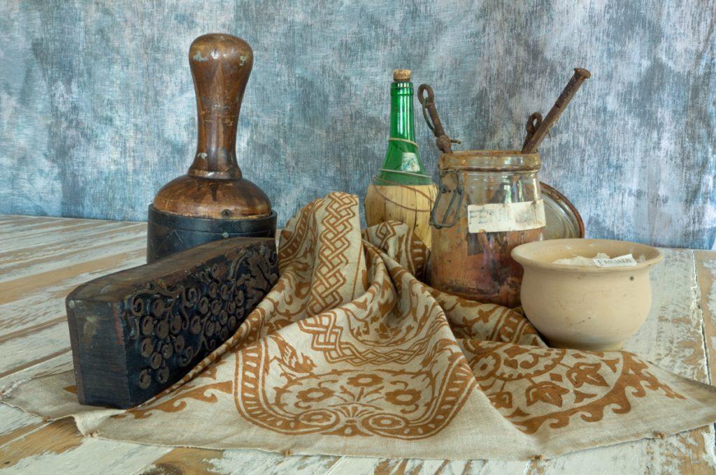 rustic vintage linen
