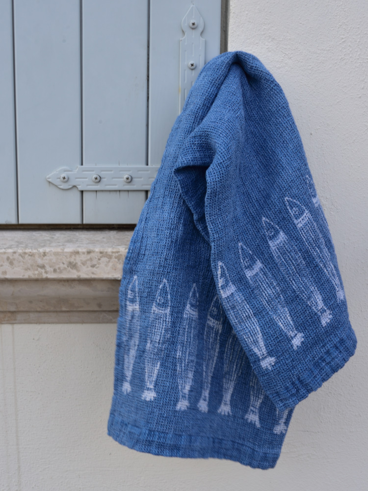 Bertozzi linen towels fish