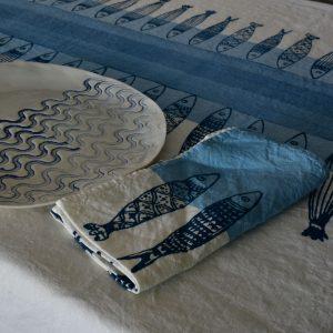 coastal collection table linens Bertozzi