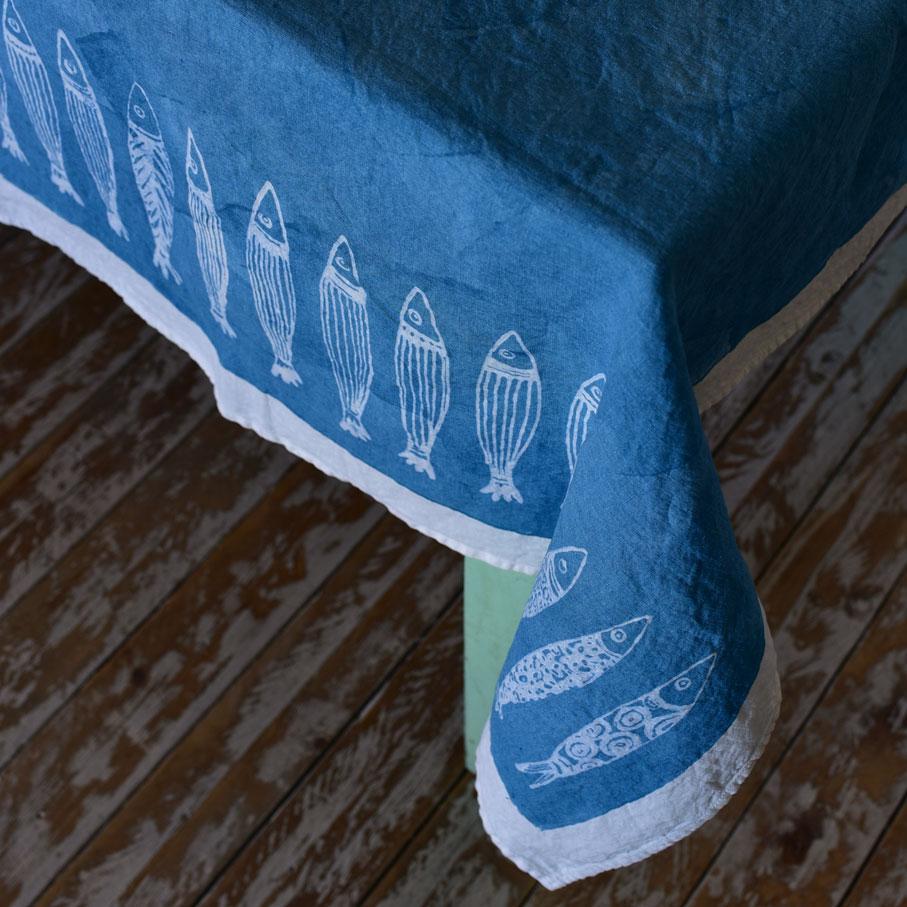 seaside style tablecloths Panarea by Bertozzi