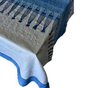 coastal chic linen tablecloth