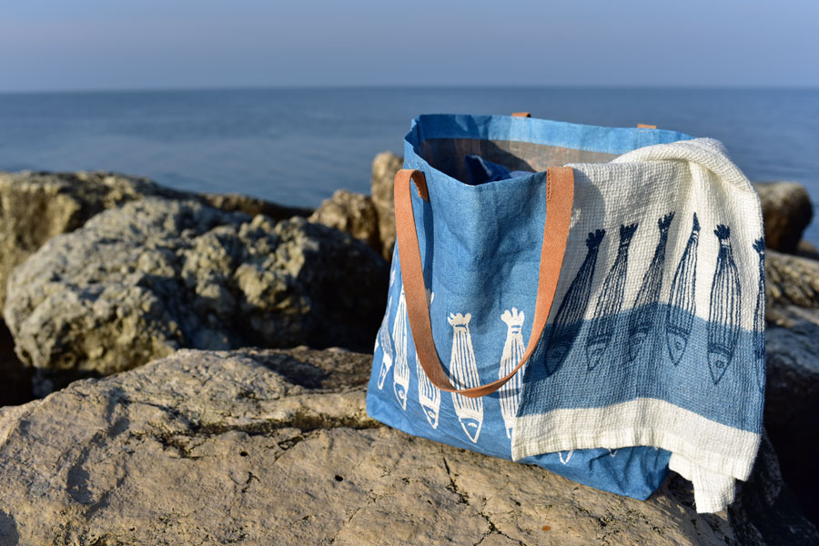 Bertozzi bags and linen towels