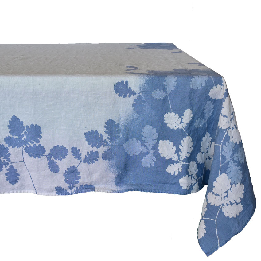 Italian linen leaves tablecloth by Bertozzi