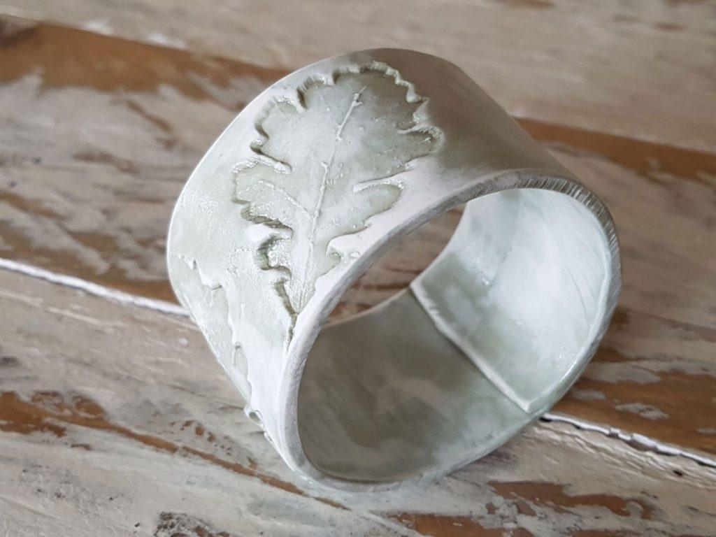 handmade porcelain napkin ring