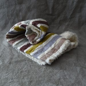 Linen quilted throw Bertozzi