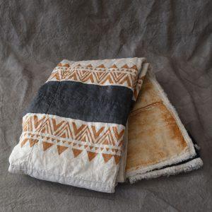linen quilted blanket