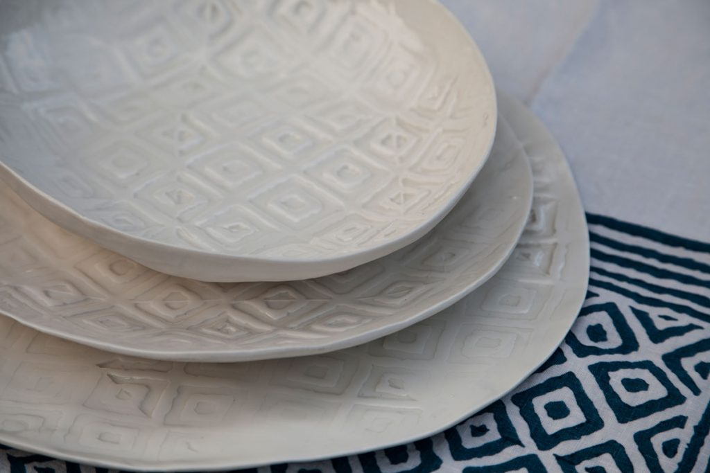 handmade porcelain dinner plates Bertozzi
