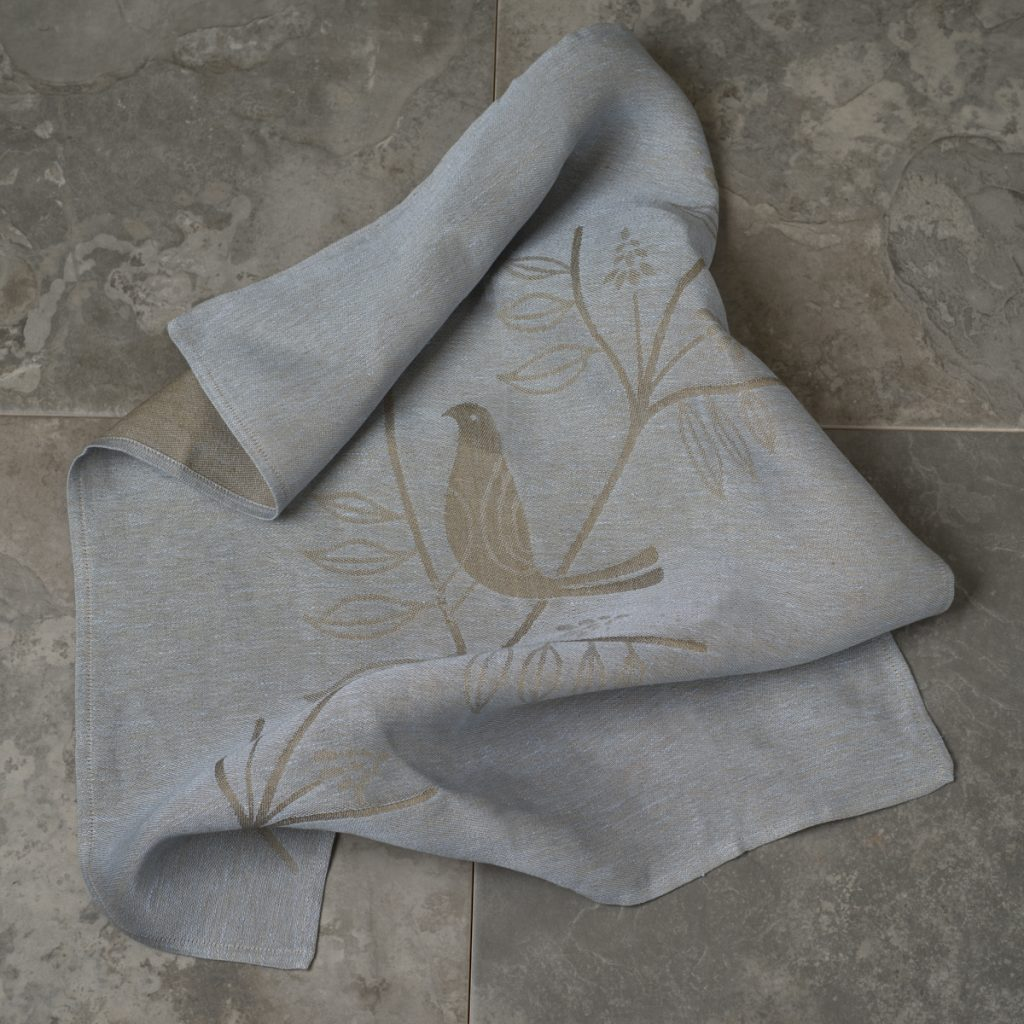 artisanal blue tea towel