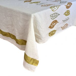 gold hand crafted tablecloth