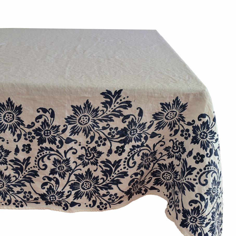 Linen Tablecloth Blue Navy
