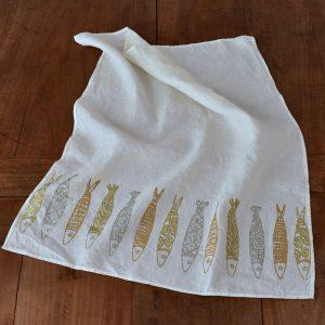 tea towel gold Panarea by Bertozzi
