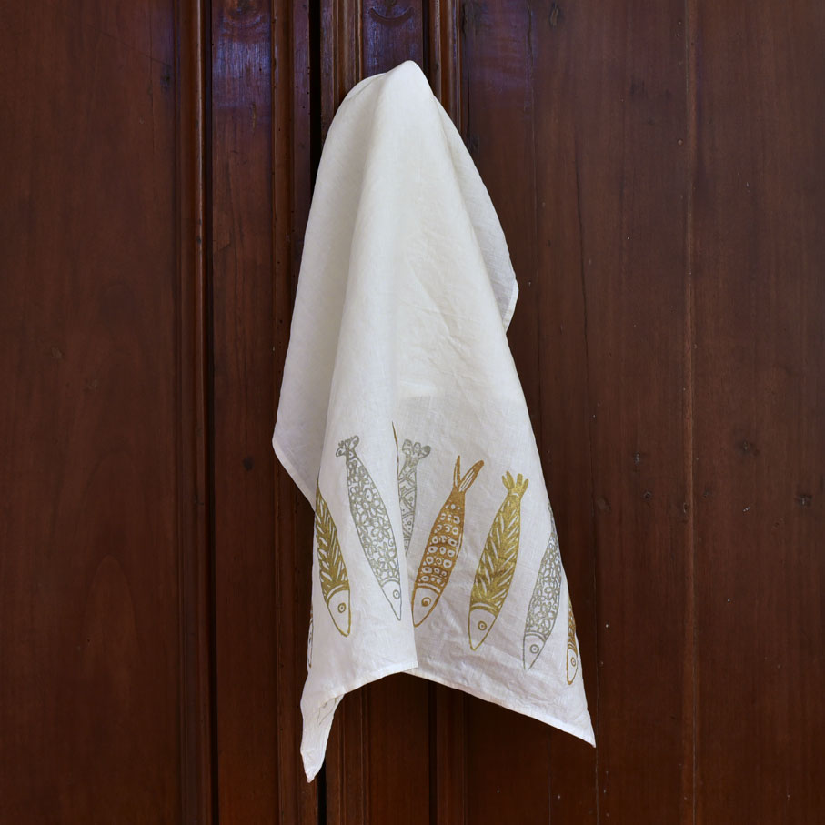 Bertozzi linen tea towel Panarea
