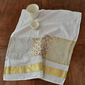 Bertozzi tea towel gold