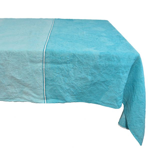 hand painted linen tablecloth Bertozzi