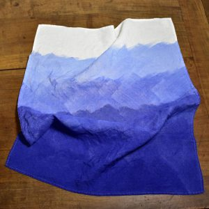 linen tea towel marine blue Bertozzi