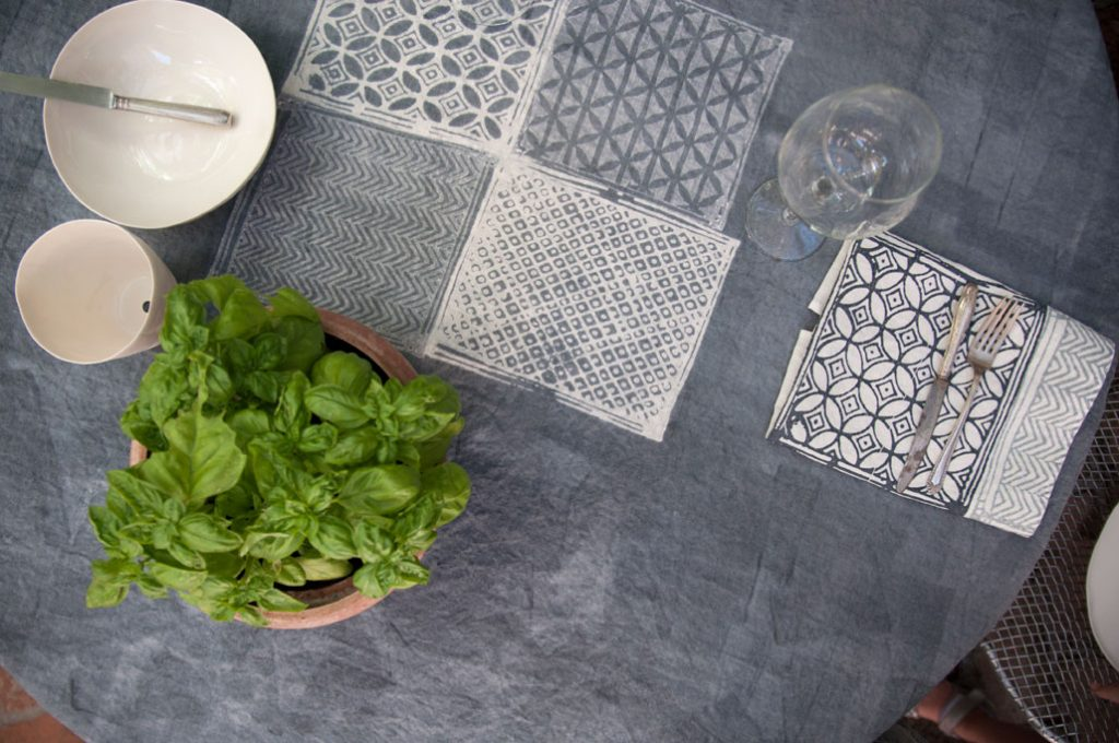 Bertozzi linen tablecloths Taormina