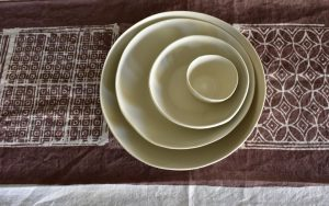 Linen table runner Bertozzi