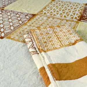 Block printed linen napkin