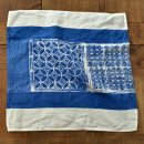 hand painted linen napkin Taormina